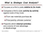 what is strategic cost analysis