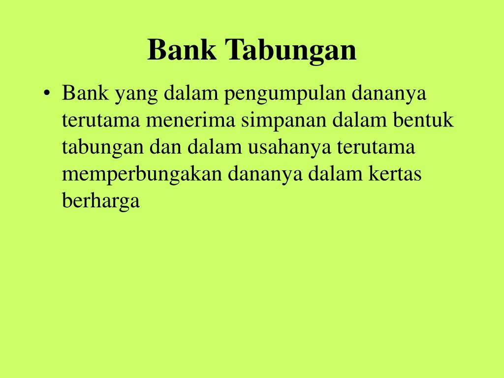 Bank Tabungan