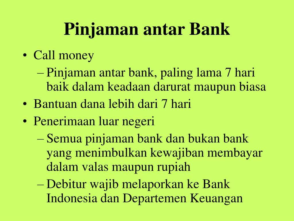 Pinjaman antar Bank