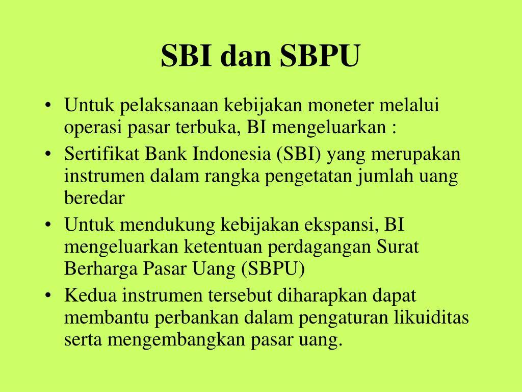 SBI dan SBPU