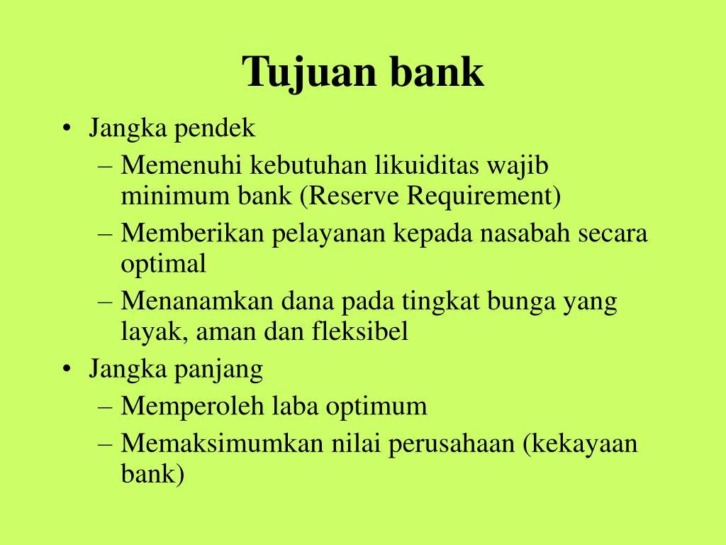 Tujuan bank
