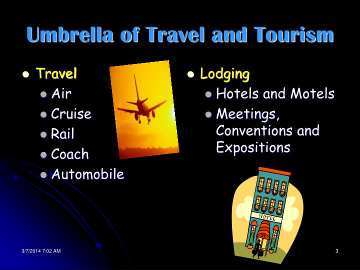 Umbrella of travel and tourism