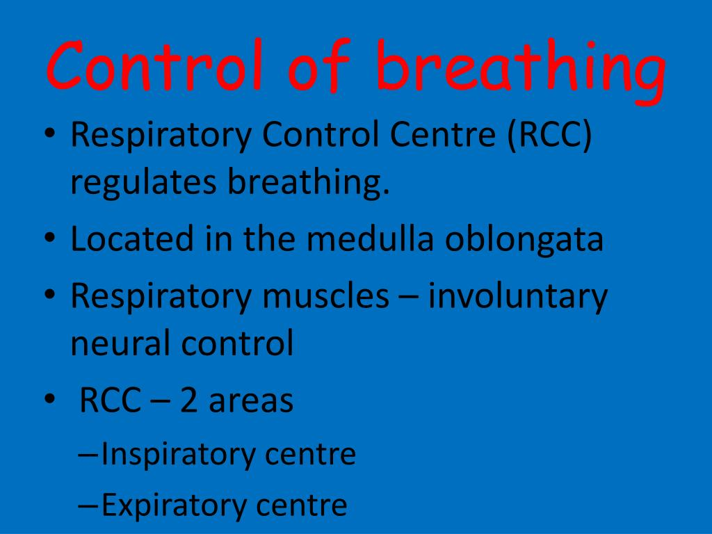 Control of breathing