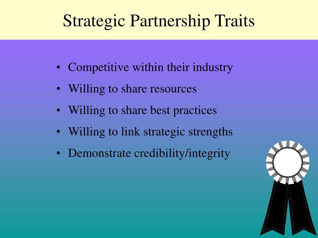 Strategic Partnership Traits
