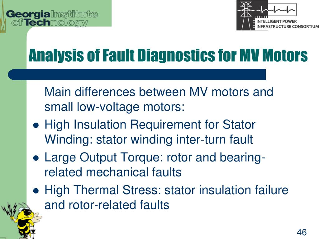 Analysis of Fault Diagnostics for MV Motors