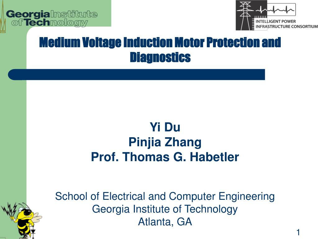 Medium Voltage Induction Motor Protection and Diagnostics