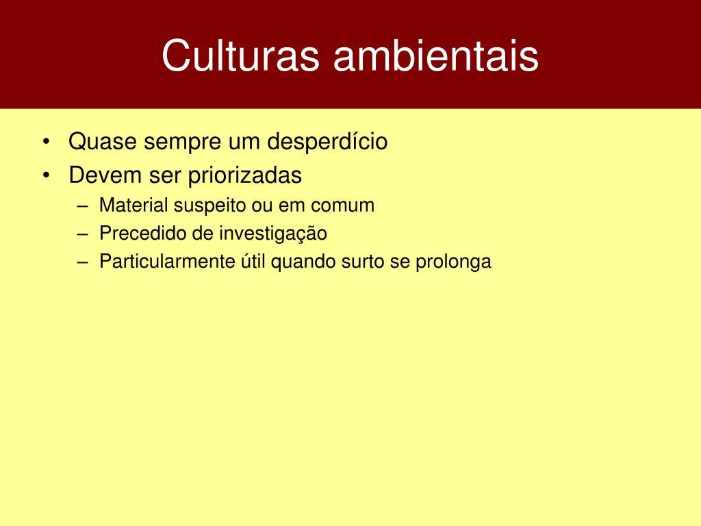 Culturas ambientais
