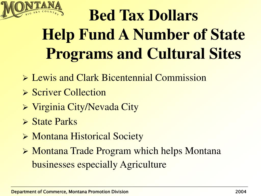 Bed Tax Dollars