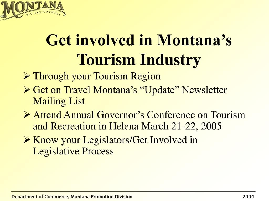 Get involved in Montana's Tourism Industry