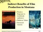 indirect benefits of film production in montana