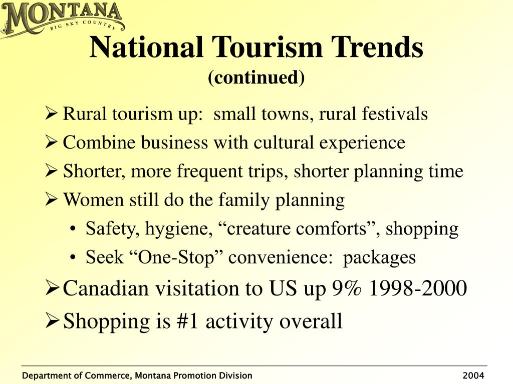 National Tourism Trends