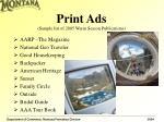print ads sample list of 2005 warm season publications