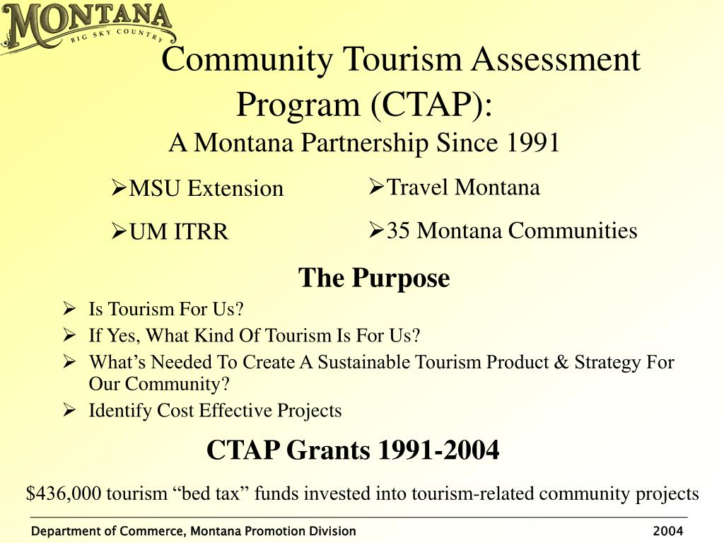 Community Tourism Assessment Program (CTAP):