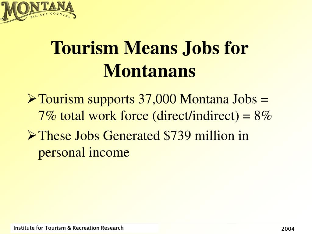 Tourism Means Jobs for Montanans