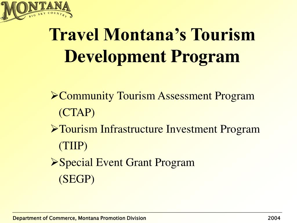 Travel Montana's Tourism Development Program
