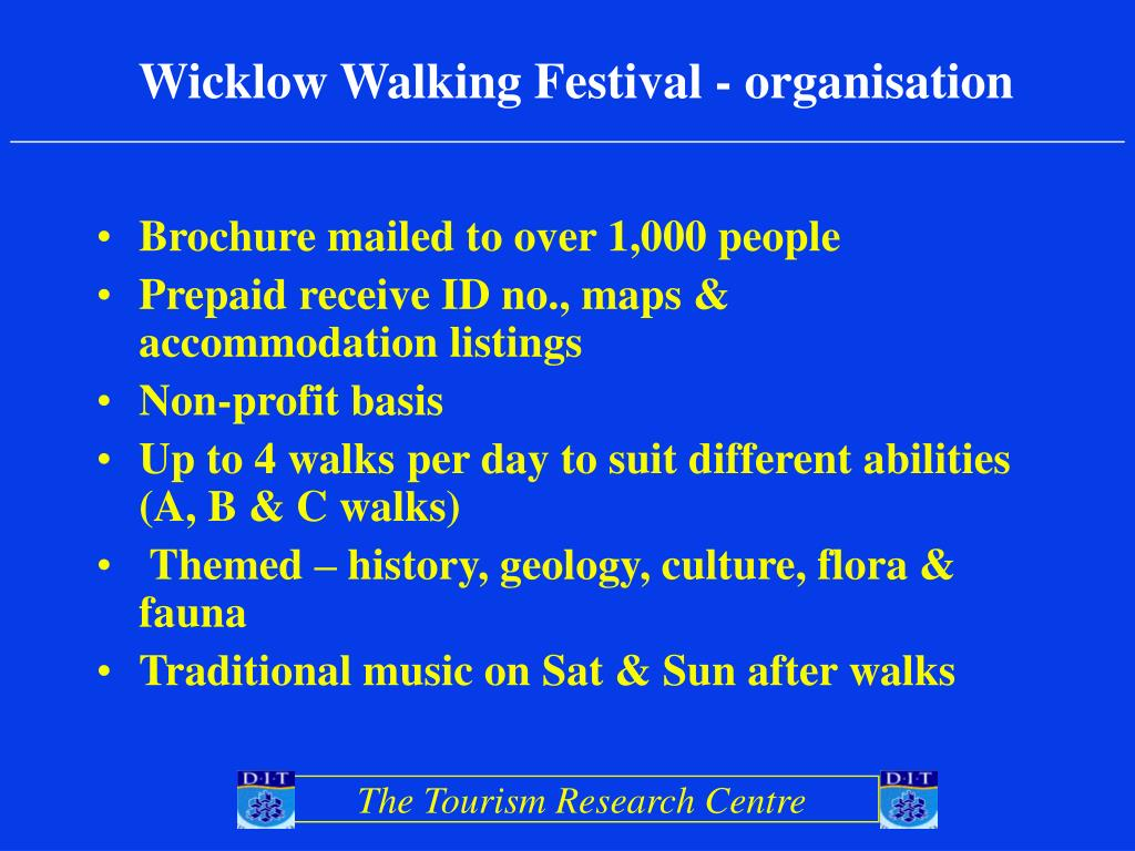 Wicklow Walking Festival - organisation