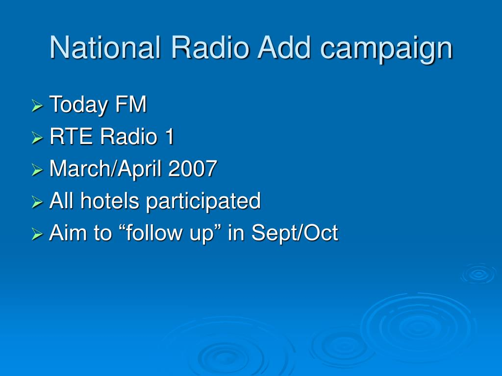 National Radio Add campaign