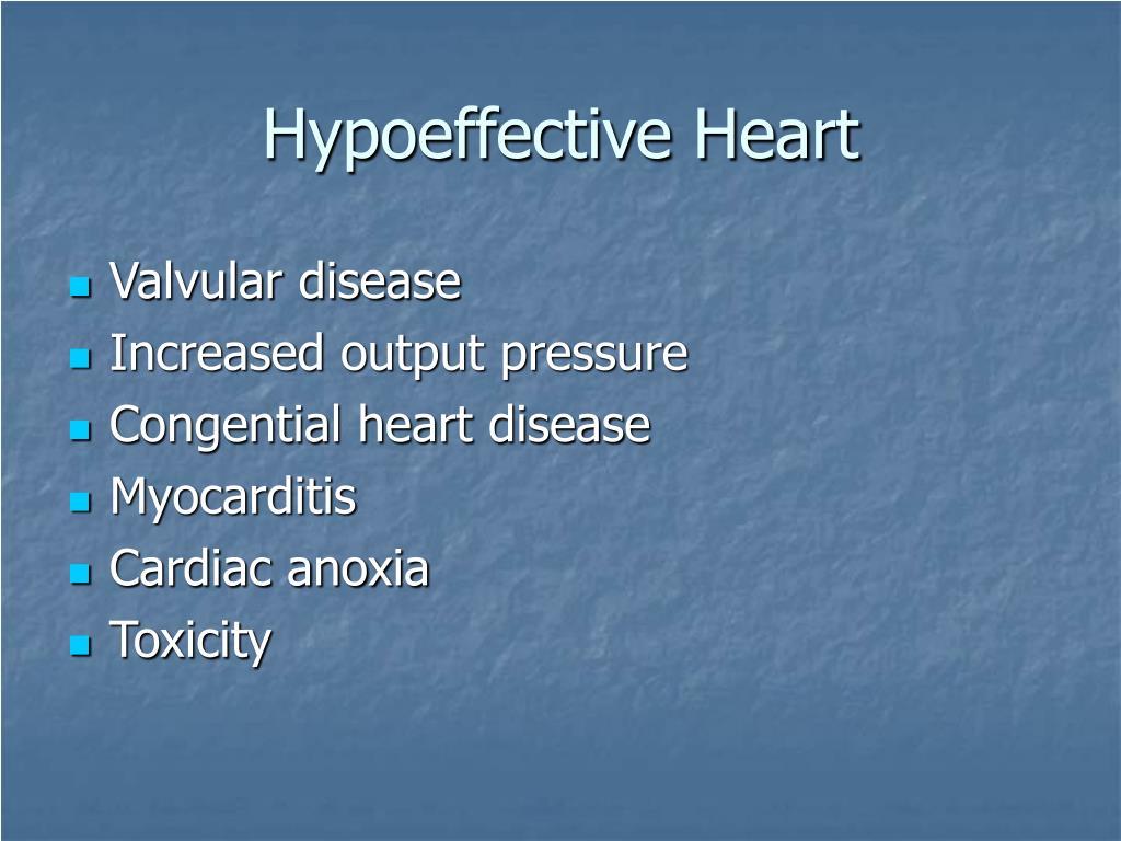 Hypoeffective Heart