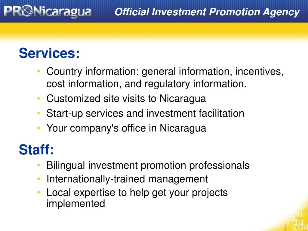 Official Investment Promotion Agency