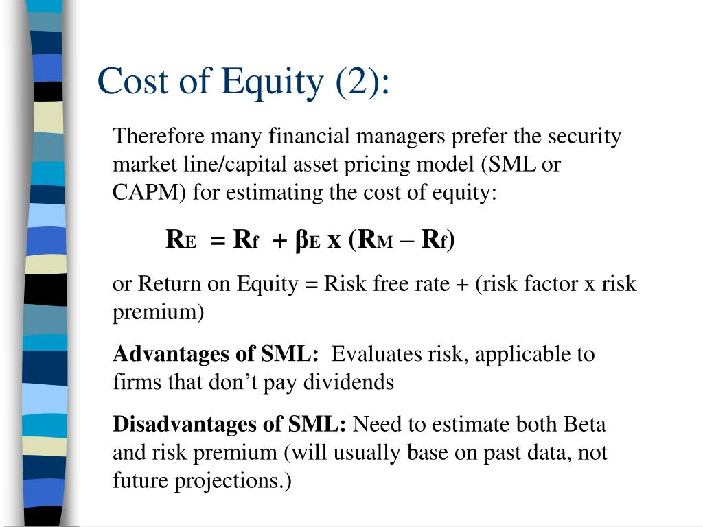 Cost of Equity (2):