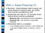 debt vs equity financing 3