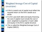 weighted average cost of capital overview