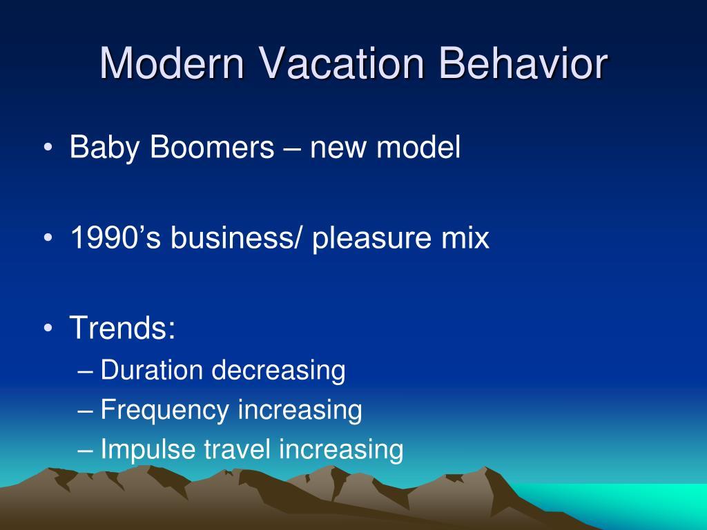 Modern Vacation Behavior