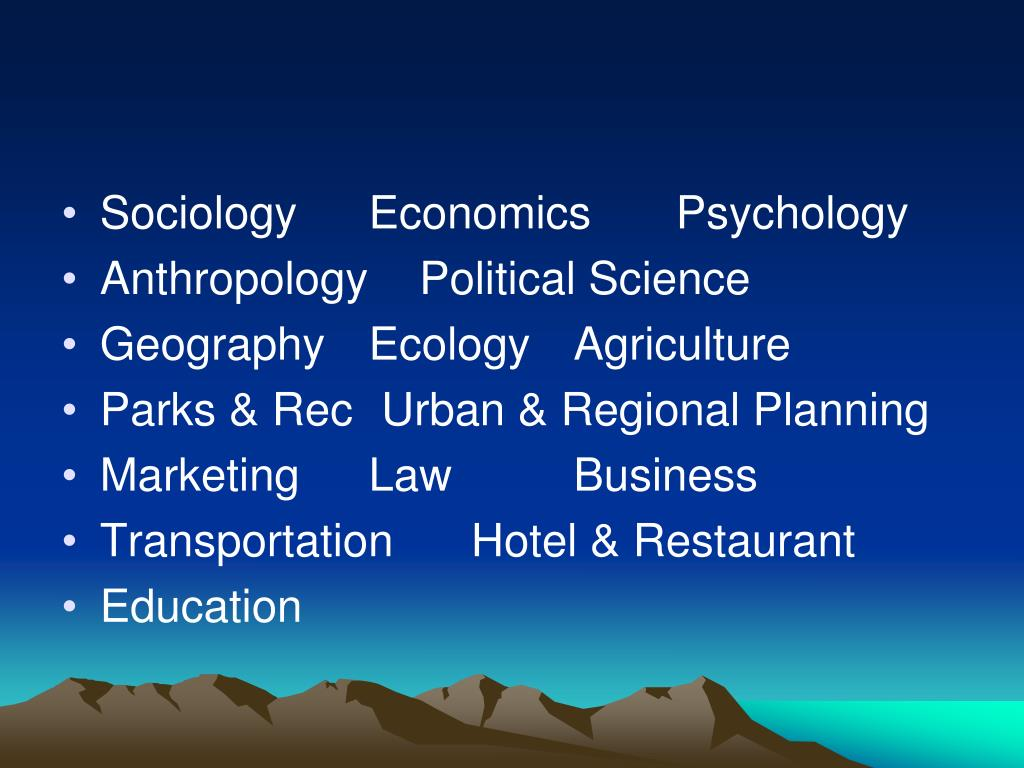 SociologyEconomicsPsychology