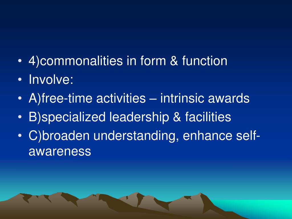 4)commonalities in form & function