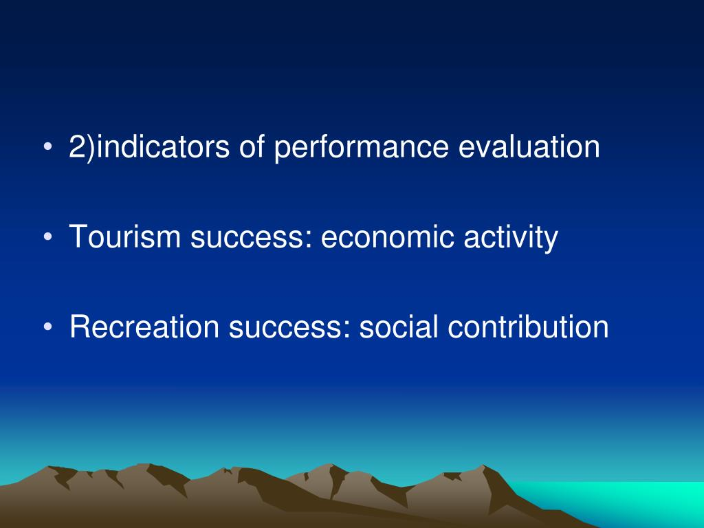 2)indicators of performance evaluation