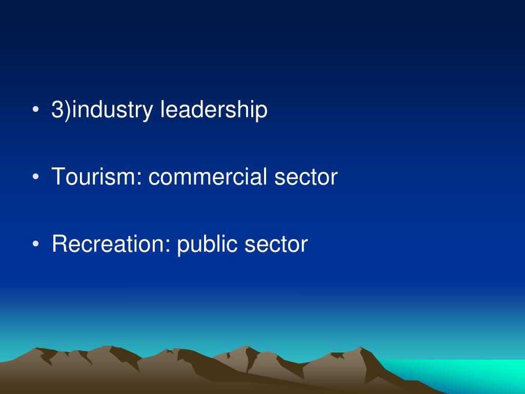 3)industry leadership