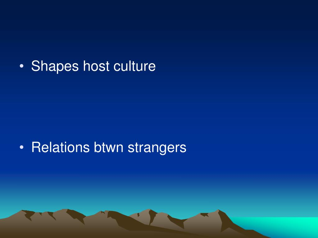 Shapes host culture