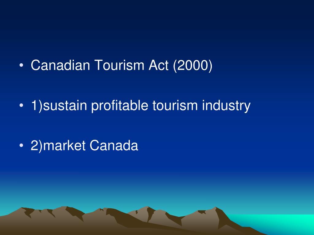 Canadian Tourism Act (2000)