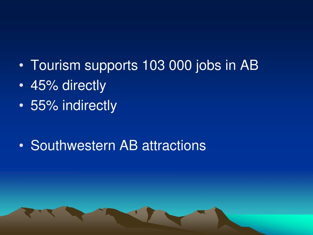 Tourism supports 103 000 jobs in AB