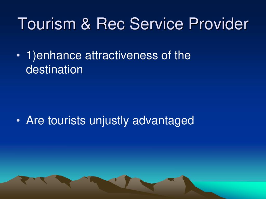 Tourism & Rec Service Provider