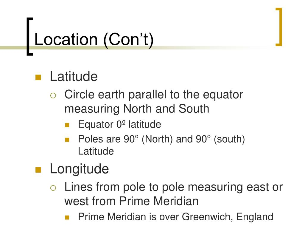 Location (Con't)
