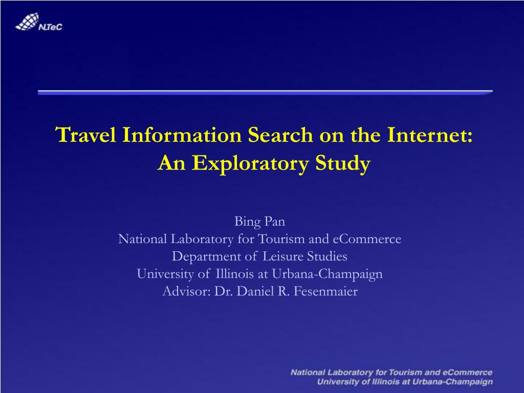 Travel Information Search on the Internet:
