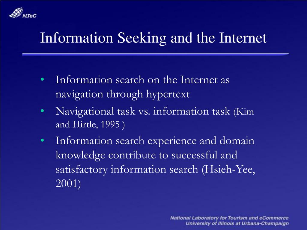 Information Seeking and the Internet