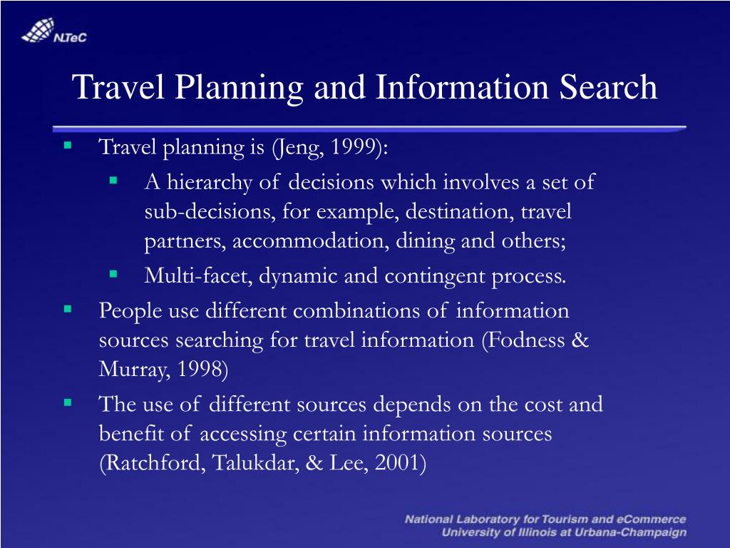 Travel Planning and Information Search