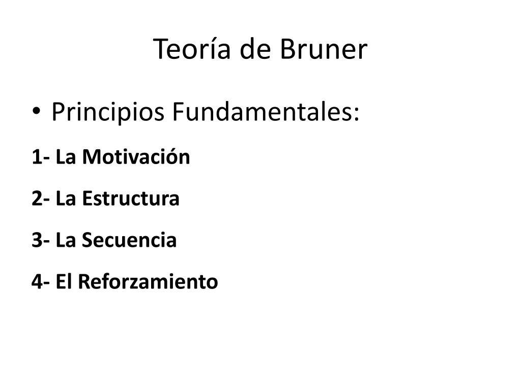 Teoría de Bruner