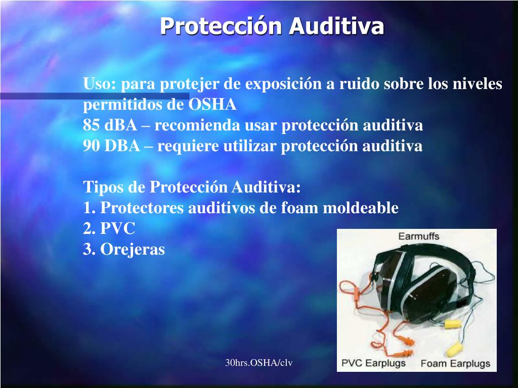 Uso: para protejer de exposición a ruido sobre los niveles