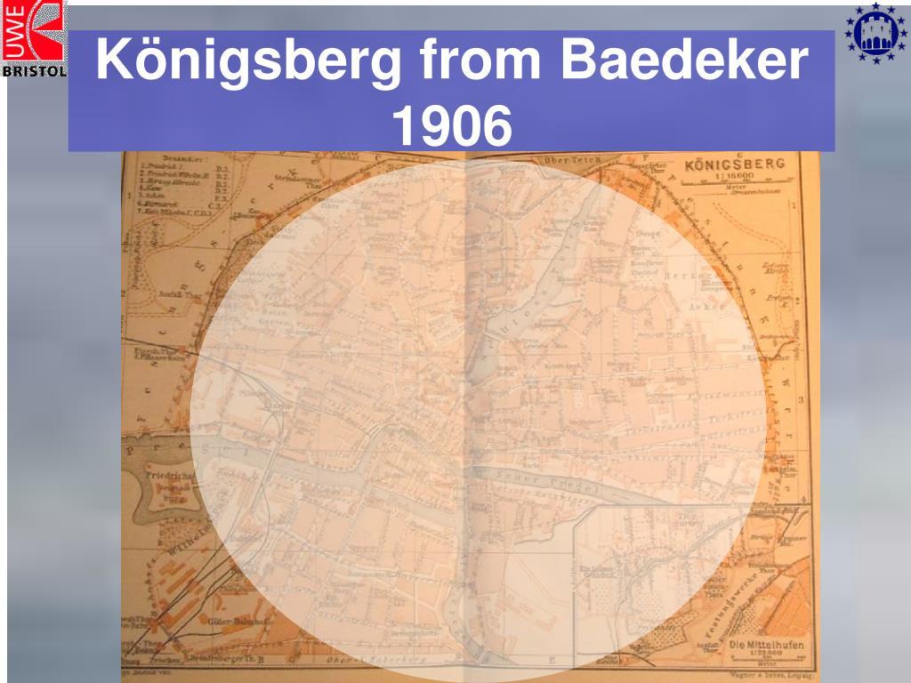 Königsberg from Baedeker 1906