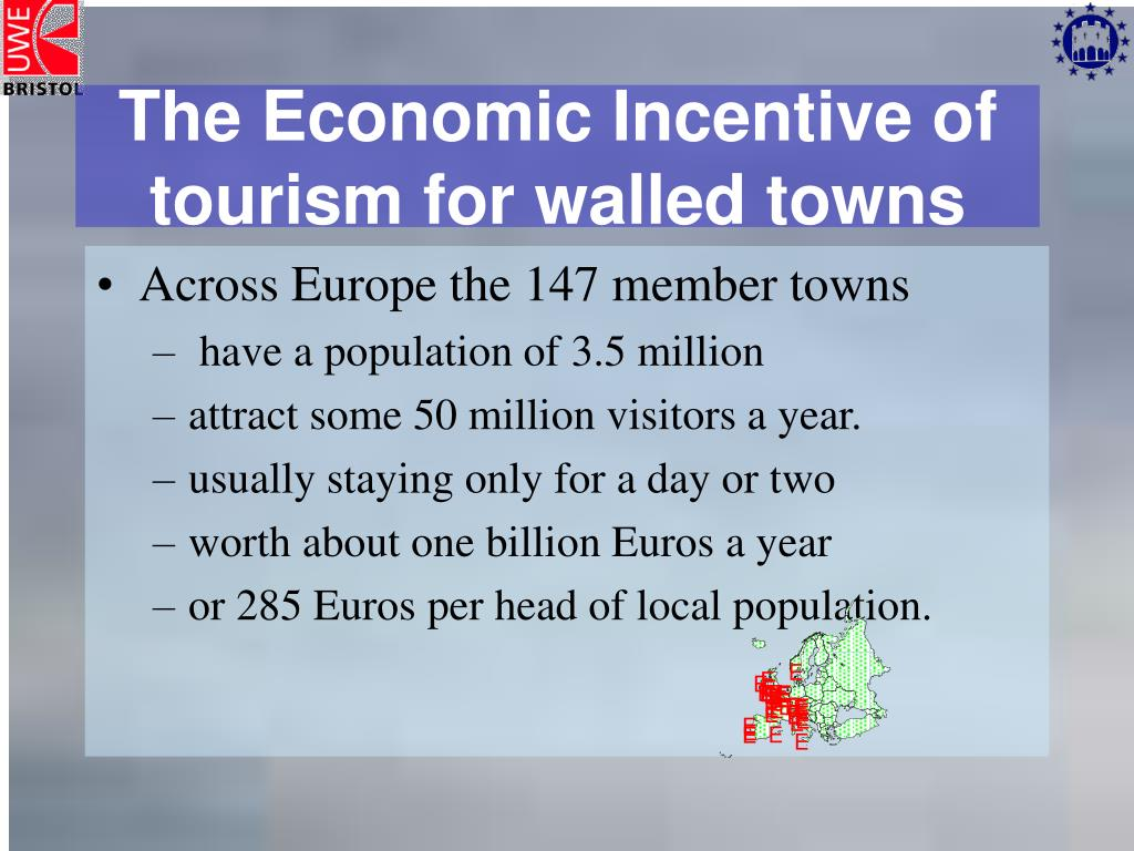 The Economic Incentive of tourism for walled towns