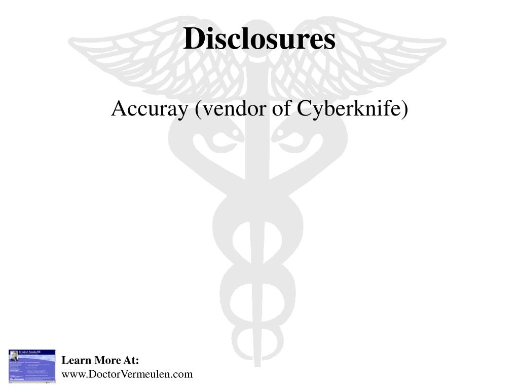 Accuray (vendor of Cyberknife)