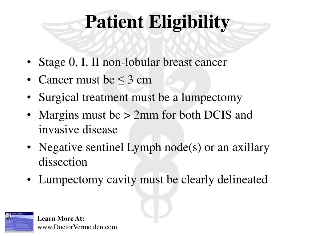 Stage 0, I, II non-lobular breast cancer