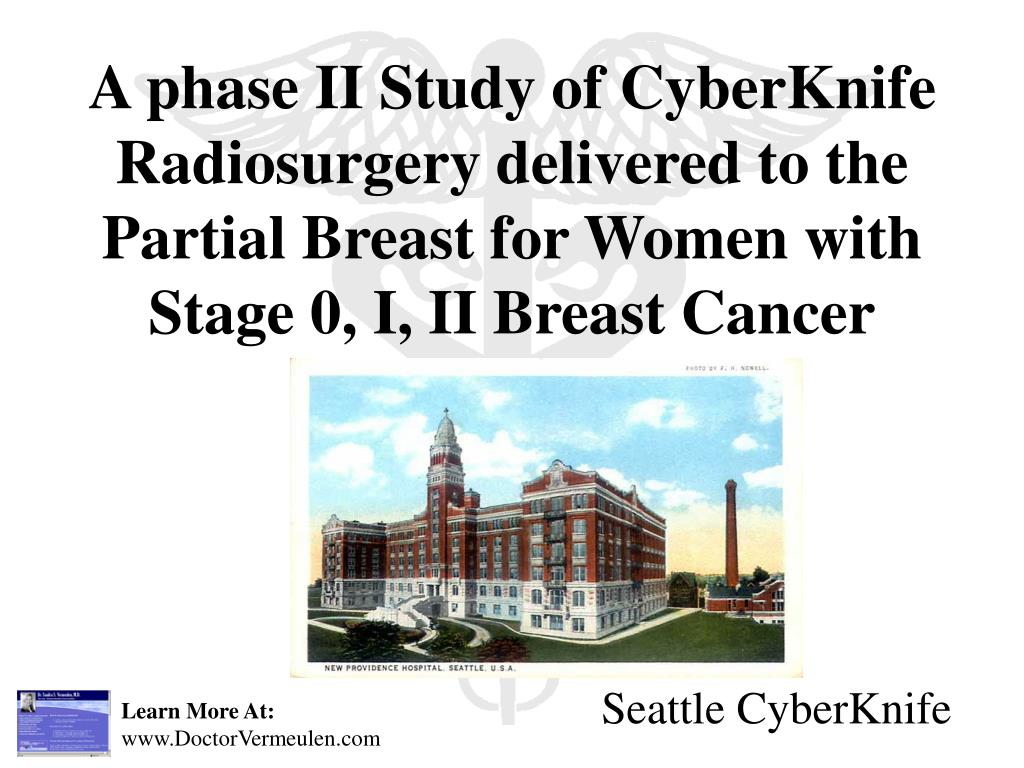 A phase II Study of CyberKnife Radiosurgery delivered to the Partial Breast for Women with Stage 0, I, II Breast Cancer