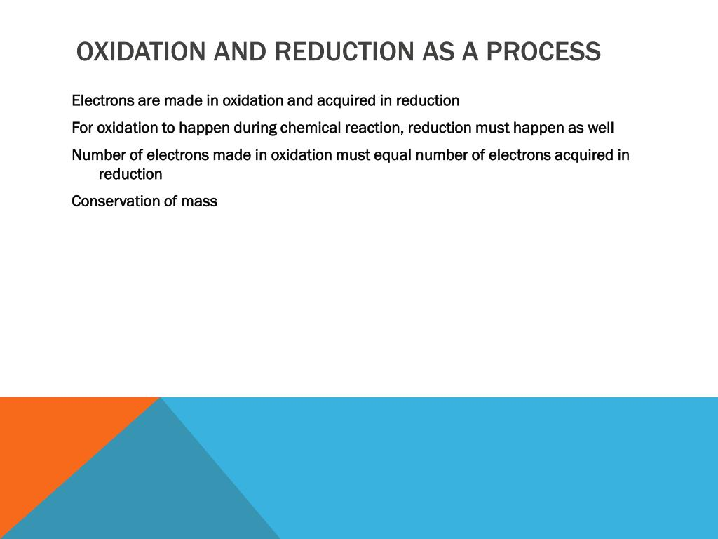 Oxidation and Reduction as a Process