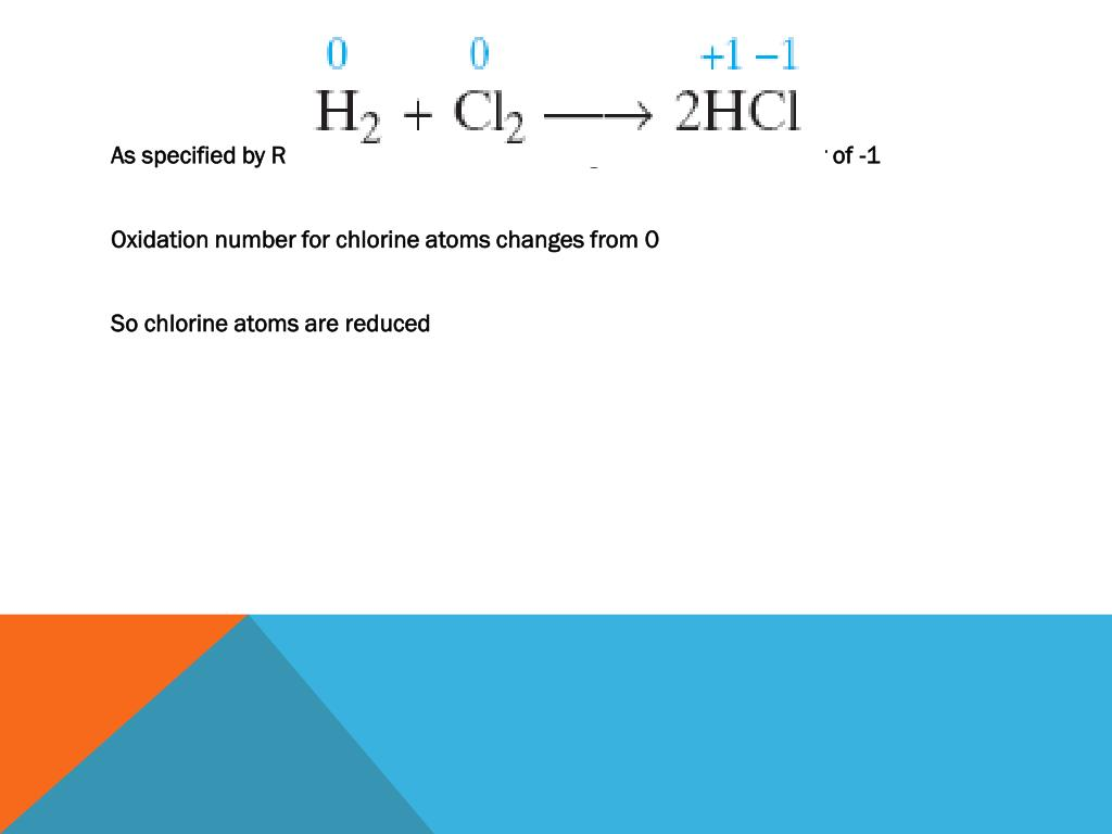 As specified by Rule #3, chlorine in HCl is assigned oxidation number of -1