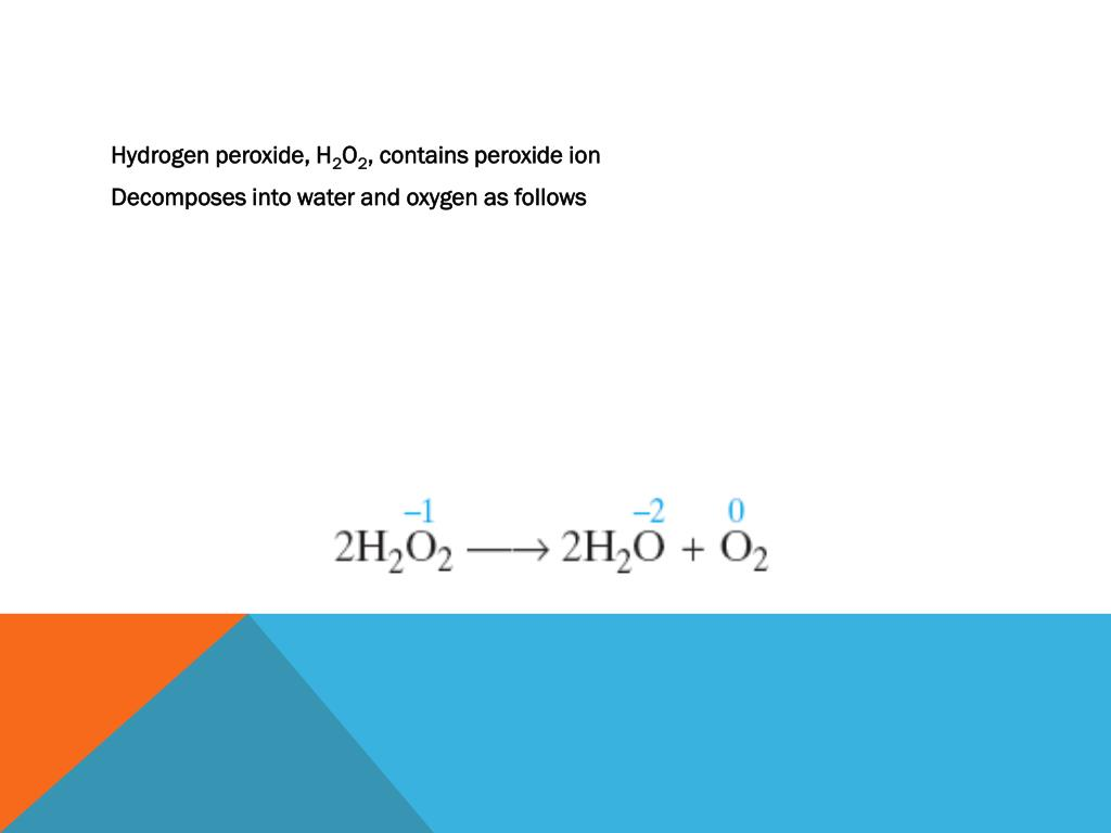 Hydrogen peroxide, H