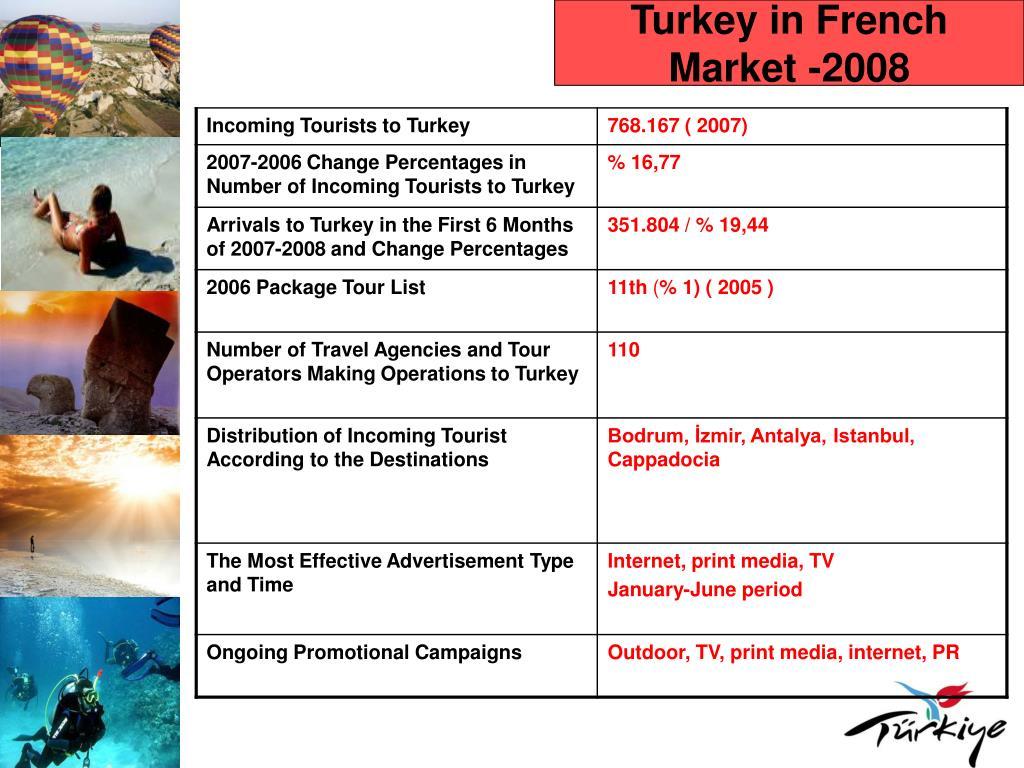 Turkey in French Market -2008